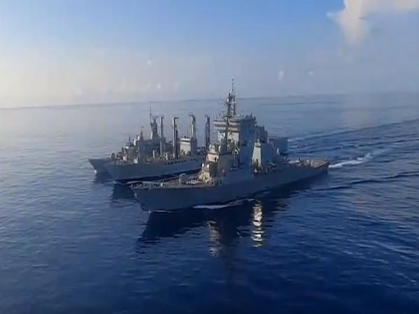 Malabar 20 naval exercise in Bay of Bengal. (Image courtesy: Twitter)
