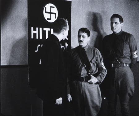 "Handout photo by Cinematheque Royale de Belgique shows a scene from the 1934 U.S. anti-Nazi film ""Hitler's Reign of Terror"""