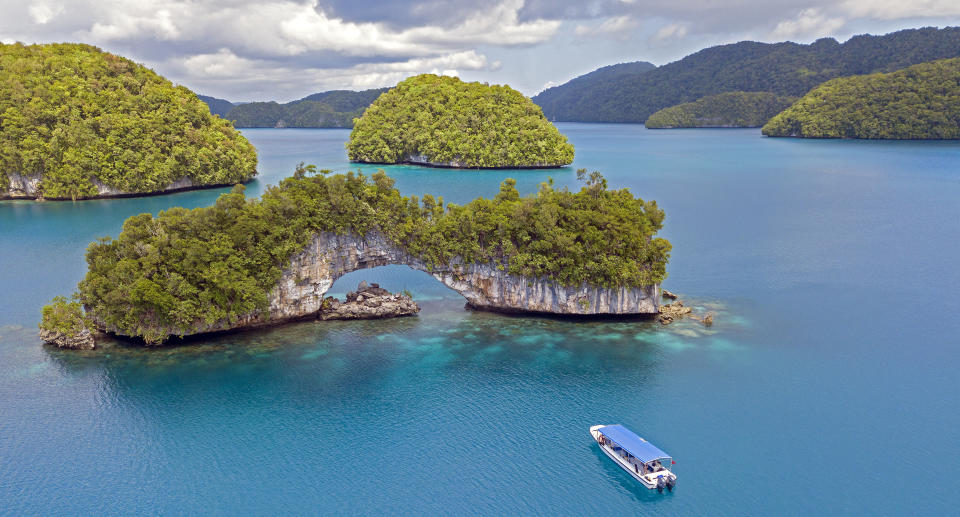 The Arch, Rock Islands, Palau. Source: Getty Images
