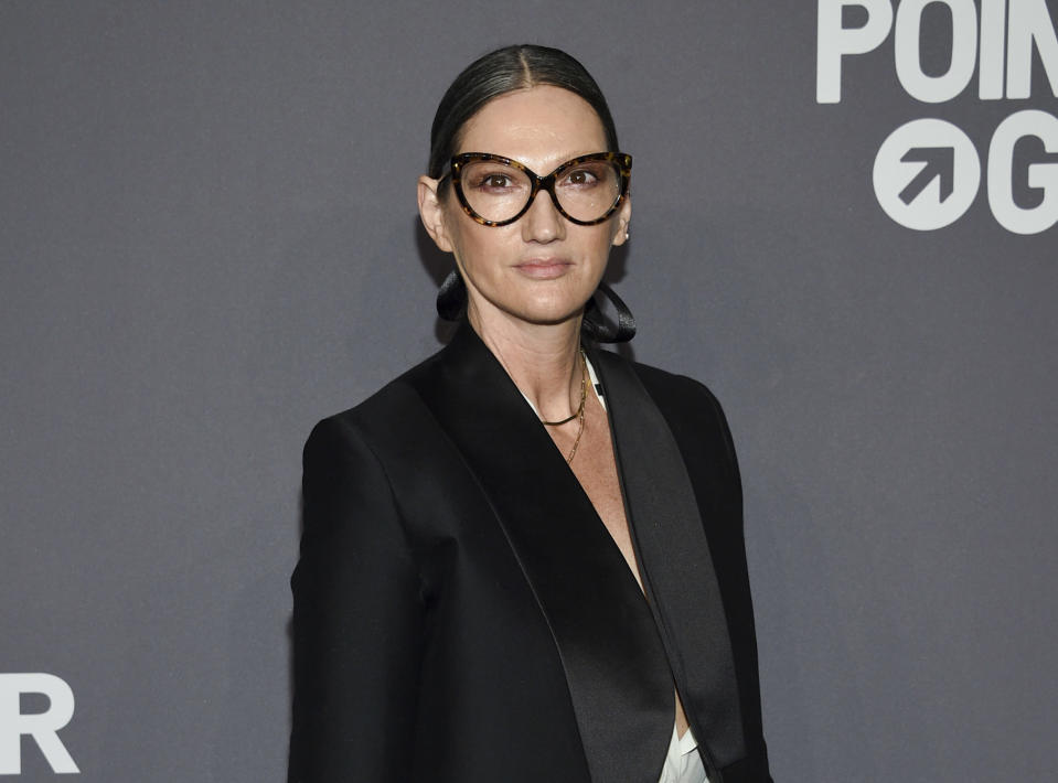 """FILE - Jenna Lyons attends the amfAR Gala New York AIDS research benefit in New York on Feb. 6, 2019. The former J. Crew President and Creative Director has pivoted, and is now building her own brand on reality TV. Her new HBO Max show, """"Stylish with Jenna Lyons,"""" which brings her design acumen to home, fashion and beauty projects, launches this week. (Photo by Evan Agostini/Invision/AP, File)"""