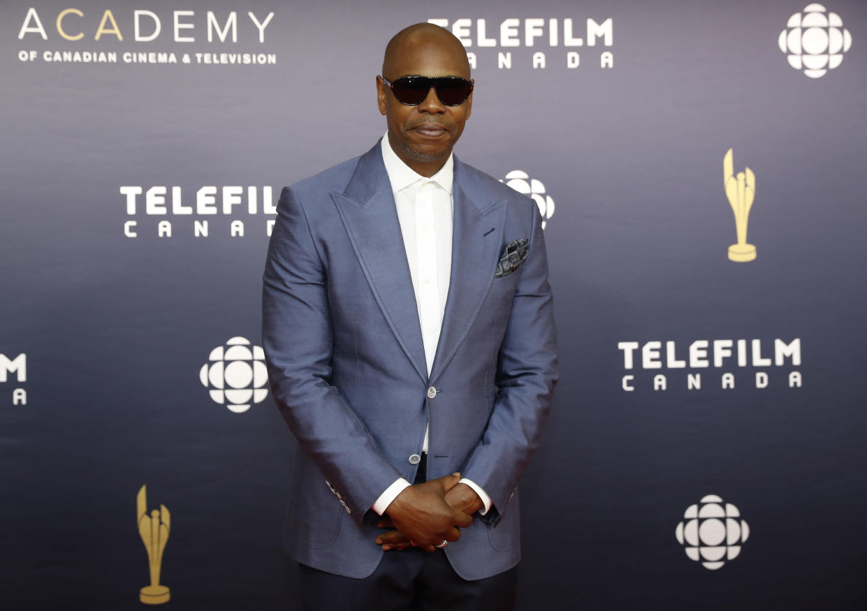 Comedian Dave Chappelle arrives at the Canadian Screen Awards in Toronto, Ontario, Canada March 12, 2017. REUTERS/Mark Blinch