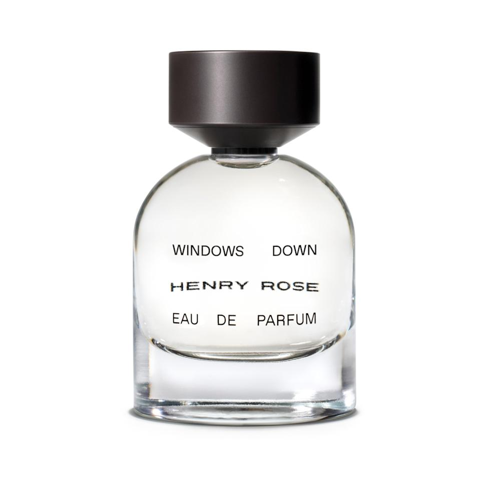 """Some people enter summer like a wildly crashing wave; others flow into it like a gentle breeze. Windows Down, the latest fragrance from <a href=""""https://www.allure.com/story/michelle-pfeiffer-henry-rose-queens-monsters-fragrance?mbid=synd_yahoo_rss"""" rel=""""nofollow noopener"""" target=""""_blank"""" data-ylk=""""slk:Michelle Pfeiffer's Henry Rose"""" class=""""link rapid-noclick-resp"""">Michelle Pfeiffer's Henry Rose</a>, is for the latter. Soft notes of earl grey tea hang in the air as somewhat sharper grapefruit and bergamot blend with your skin. It stays tranquil throughout its wear thanks to the honeyed element of its neroli."""