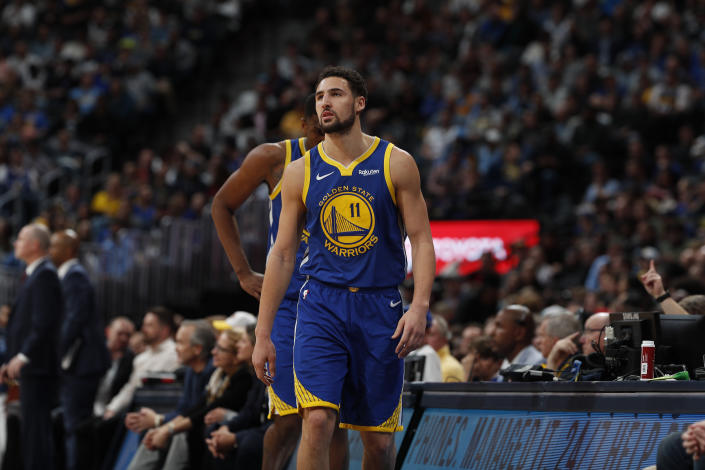 Golden State Warriors guard Klay Thompson in 2019