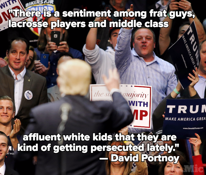 This Is Why White Affluent Young Men Vote Donald Trump, In Their Own Words