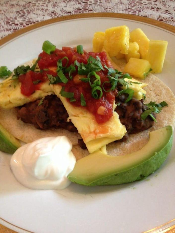 """<p><a href=""""https://www.tripadvisor.com/Hotel_Review-g60878-d584522-Reviews-11th_Avenue_Inn_Bed_and_Breakfast-Seattle_Washington.html"""" rel=""""nofollow noopener"""" target=""""_blank"""" data-ylk=""""slk:11th Avenue Inn Bed & Breakfast"""" class=""""link rapid-noclick-resp"""">11th Avenue Inn Bed & Breakfast</a> in Seattle</p><p>""""The breakfasts weren't extremely """"gourmet"""" compared to many B+B's I've stayed at, but the food was hearty, and sufficient to get us through the day, such as French toast, huevos ranchero (with scrambled eggs instead of fried), blueberry pancakes with sausage, and [an] herb scramble with rosemary toast. Plenty of coffee or tea, and a side board with yogurt and granola toppings."""" - Yelp user <a href=""""https://www.yelp.com/user_details?userid=cKJ0r01eF7E-tYp2FQOyRA"""" rel=""""nofollow noopener"""" target=""""_blank"""" data-ylk=""""slk:Michelle R."""" class=""""link rapid-noclick-resp"""">Michelle R.</a></p>"""