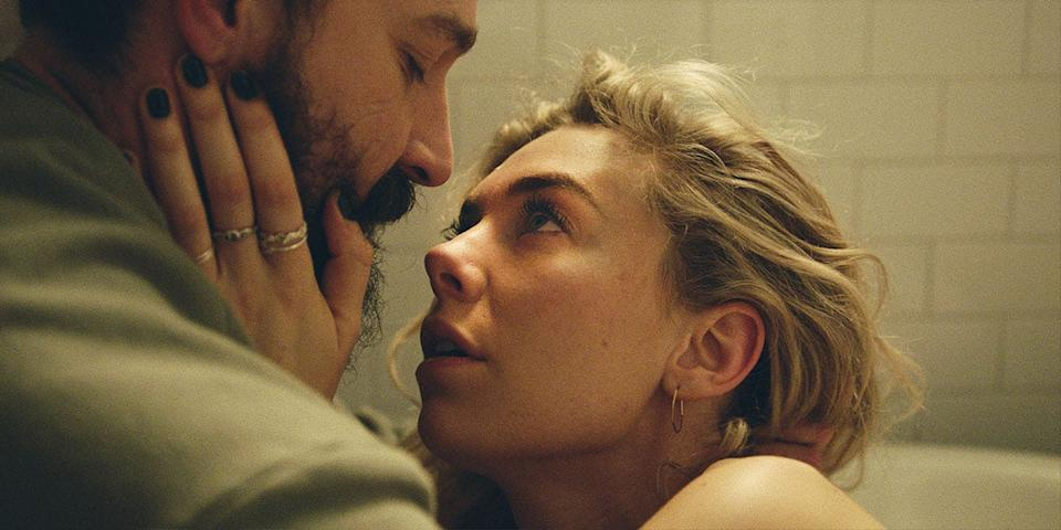 """Shia LaBeouf and Vanessa Kirby play a married couple who have to deal with a tragic home birth in the family drama """"Pieces of a Woman."""""""