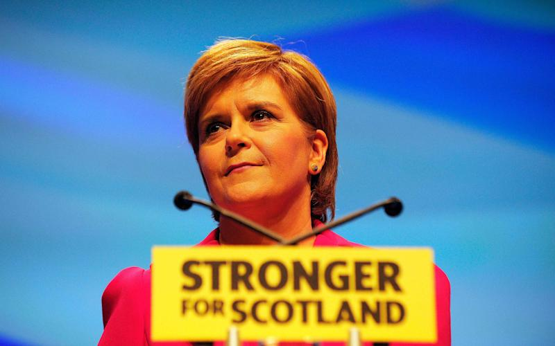 Nicola Sturgeon, First Minister of Scotland and leader of the Scottish National Party (SNP)  - Credit: AFP