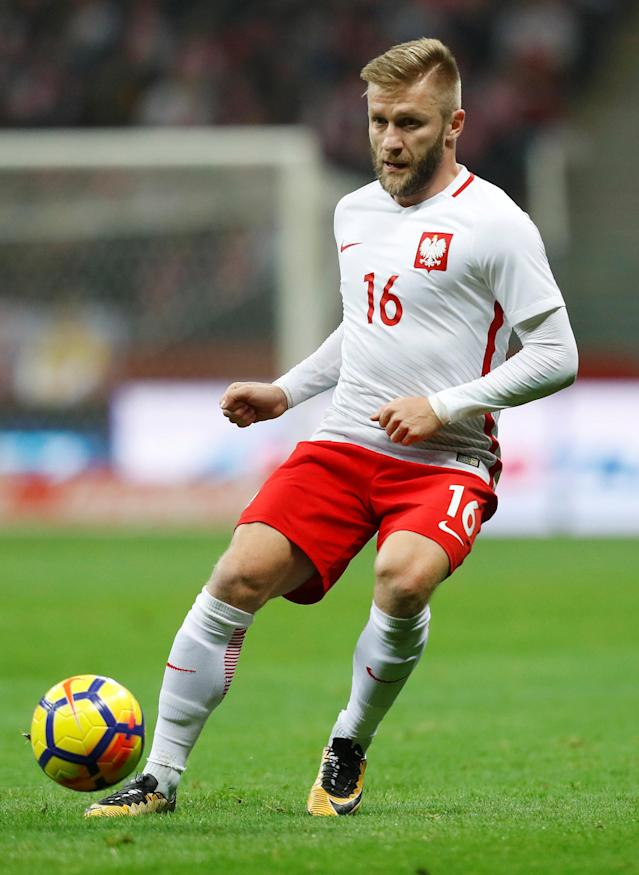 Soccer Football - International Friendly - Poland v Uruguay - National Stadium Warsaw, Warsaw, Poland - November 10, 2017 Poland's Jakub Blaszczykowski in action REUTERS/Kacper Pempel