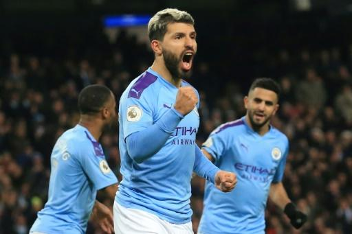 Lethal: Sergio Aguero opened the scoring for Manchester City against Sheffield United