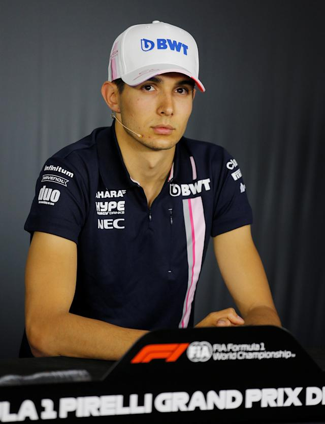 Formula One F1 - French Grand Prix - Circuit Paul Ricard, Le Castellet, France - June 21, 2018 Force India's Esteban Ocon during the press conference REUTERS/Jean-Paul Pelissier
