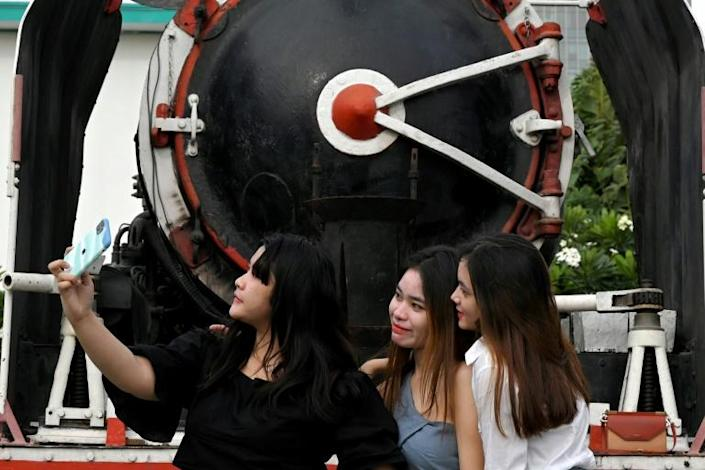 A new train cafe -- located at Phnom Penh railway station -- has become a hub for Instagrammers and Facebookers looking for a selfie location and cold drink