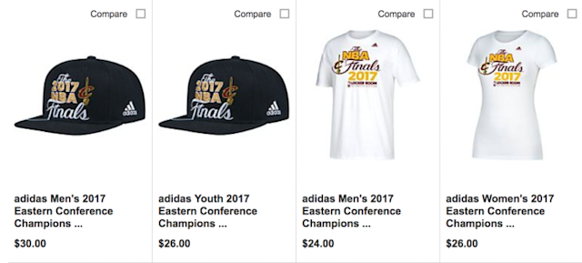 "Get your Cleveland Cavaliers ""2017 NBA Finals"" gear early. (dickssportinggoods.com)"