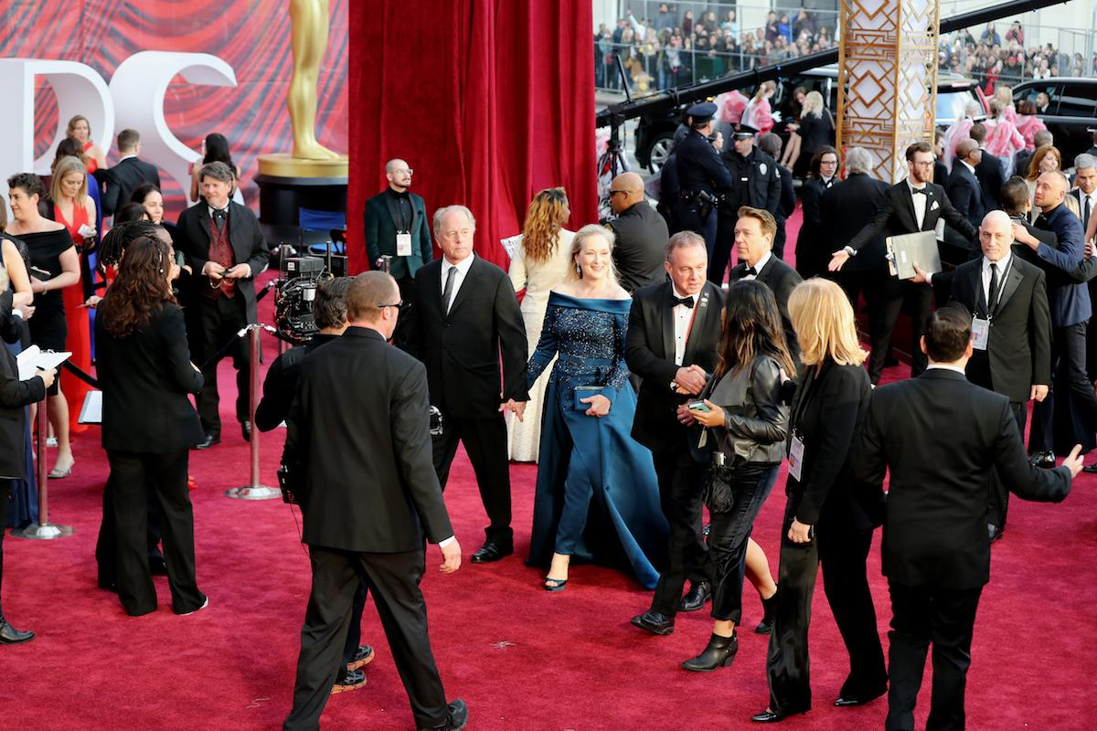 "<p>Meryl Streep's Academy Awards look stirred drama before she even hit the red carpet. And then, when she revealed her final ensemble, <a rel=""nofollow"" href=""https://www.yahoo.com/style/meryl-streeps-elie-saab-at-the-oscars-was-worth-that-chanel-controversy-022502995.html"">it was well worth all the controversy</a>. The jumpsuit featured an off-the-shoulder silhouette and a train over tailored pants. <em>(Photo: Getty Images)</em> </p>"