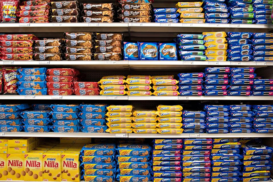 Palm oil is found in many popular snack foods, including Oreo and Chips Ahoy! cookies. (Photo: Bloomberg/ Getty Images)
