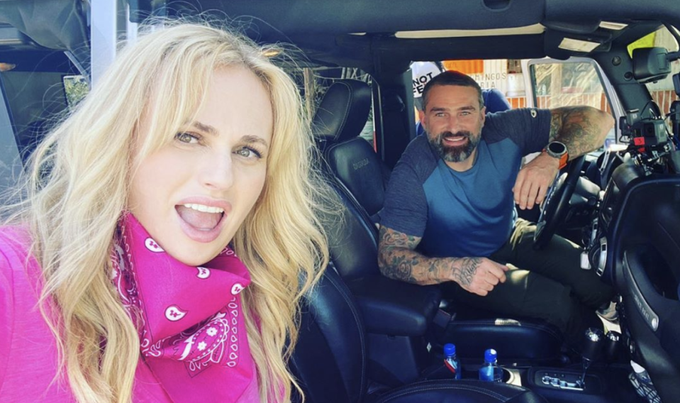 Rebel Wilson and Ant Middleton have teamed up for a new instalment of his 'Straight Talking' series. (Instagram/Rebel Wilson)