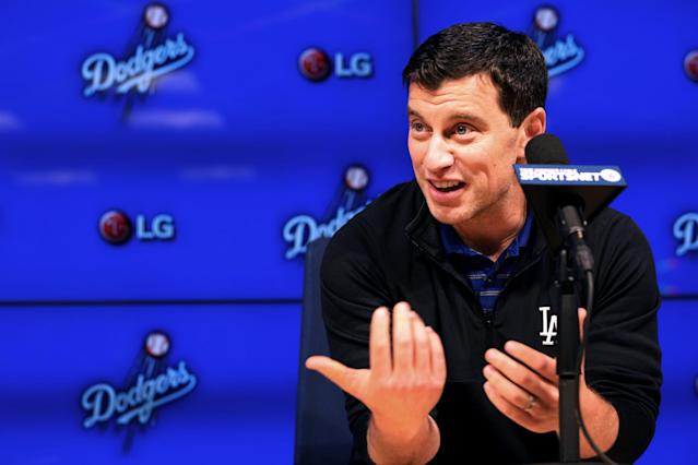 Dodgers president Andrew Friedman and others in the organization have been accused of engaging in discriminatory practices by ex-employee Nick Francona. (Getty Images)