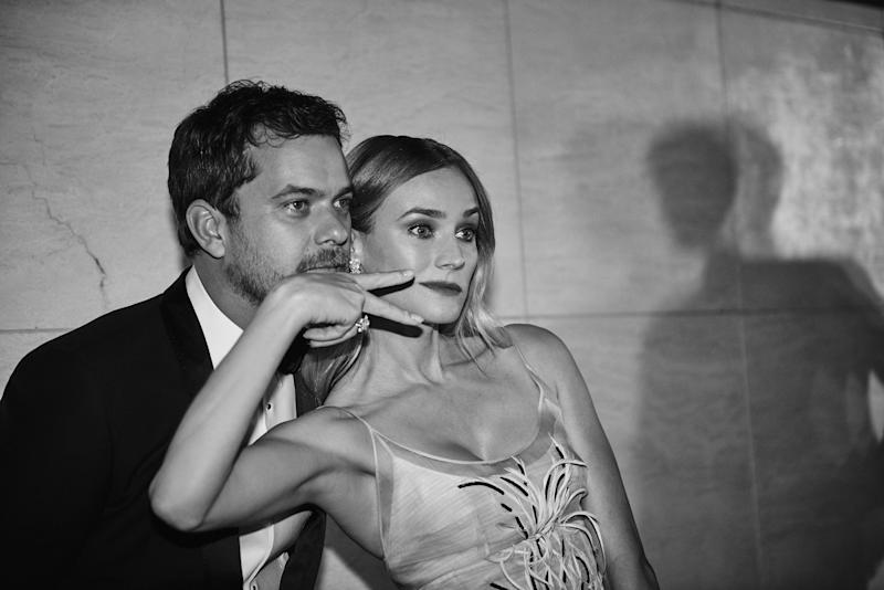 HOLLYWOOD, CA - OCTOBER 29: (EDITORS NOTE: Image has been shot in black and white. Color version not available.) Diane Kruger and Joshua Jackson attend the 2015 amFar's Inspiration Gala Los Angeles at Milk Studios on October 29, 2015 in Los Angeles, California. (Photo by Mary Rozzi/ Getty Images for amFar)