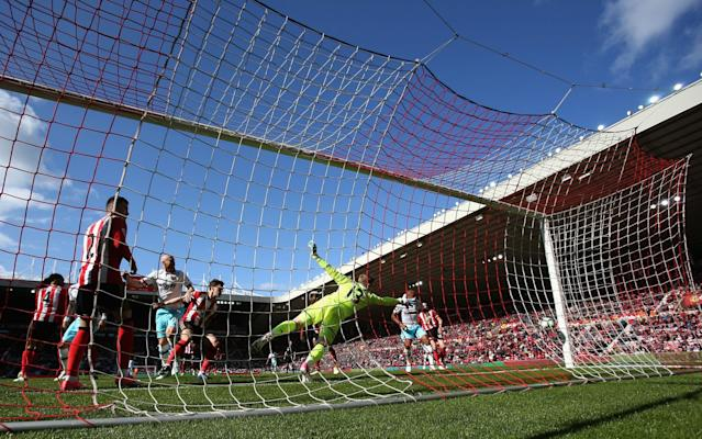 <span>Collins puts West Ham back in front with a header from a corner</span> <span>Credit: Ian MacNicol/Getty Images </span>