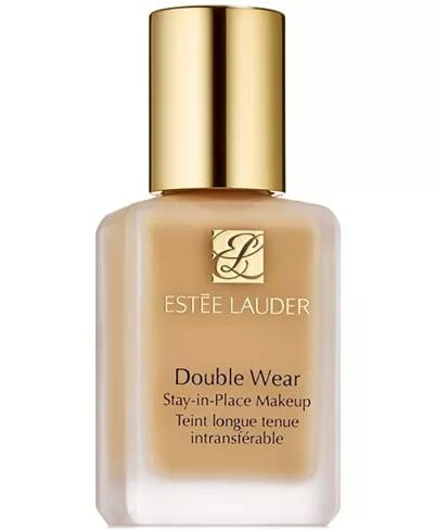 "<p>The <a href=""https://www.popsugar.com/buy/Est%C3%A9e-Lauder-Double-Wear-Stay--Place-Makeup-489042?p_name=Est%C3%A9e%20Lauder%20Double%20Wear%20Stay-in-Place%20Makeup&retailer=macys.com&pid=489042&price=43&evar1=bella%3Aus&evar9=46596229&evar98=https%3A%2F%2Fwww.popsugar.com%2Fbeauty%2Fphoto-gallery%2F46596229%2Fimage%2F46596239%2FEst%C3%A9e-Lauder-Double-Wear-Stay-in-Place-Makeup&list1=shopping%2Cmakeup%2Cbeauty%20shopping%2Cmacys%2Cskin%20care&prop13=mobile&pdata=1"" rel=""nofollow"" data-shoppable-link=""1"" target=""_blank"" class=""ga-track"" data-ga-category=""Related"" data-ga-label=""https://www.macys.com/shop/product/estee-lauder-double-wear-stay-in-place-makeup-1.0-oz.?ID=147374&amp;CategoryID=30077&amp;swatchColor=2N1%20Desert%20Beige#fn=sp%3D1%26spc%3D3089%26searchPass%3DmatchNone%26slotId%3D1"" data-ga-action=""In-Line Links"">Estée Lauder Double Wear Stay-in-Place Makeup</a> ($43) gives you full coverage and stays put no matter what.</p>"