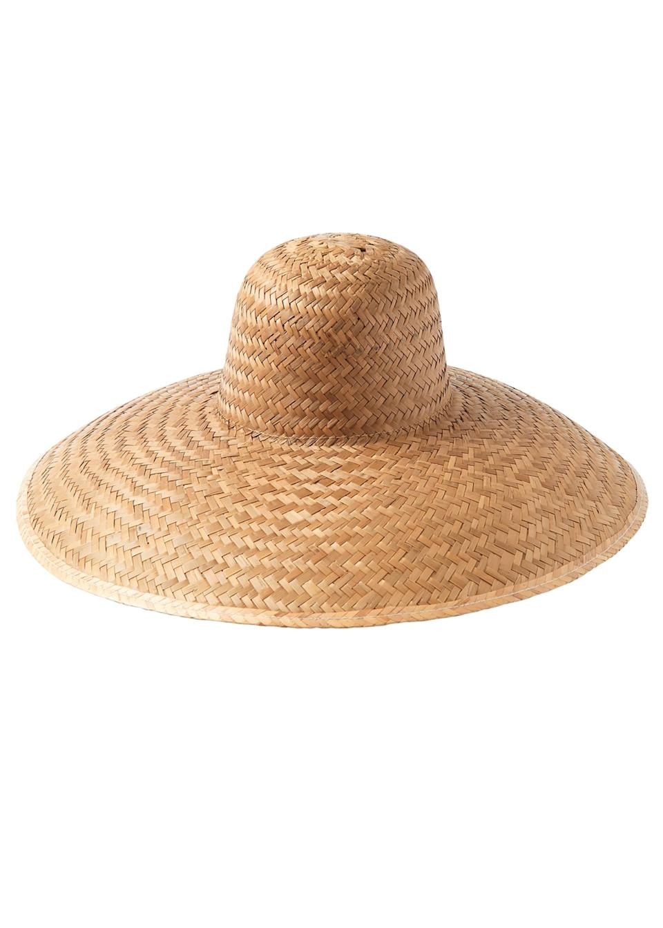 """<p>Erm, if this gram-worthy beach accessory isn't enough to inspire your next holiday then we're not quite sure what will. Would it work in the office? Asking for a friend… <a href=""""https://www.toa.st/uk/product/fhlai/clara+wide+brim+straw+hat.htm"""" rel=""""nofollow noopener"""" target=""""_blank"""" data-ylk=""""slk:Shop now"""" class=""""link rapid-noclick-resp""""><em>Shop now</em></a>. </p>"""