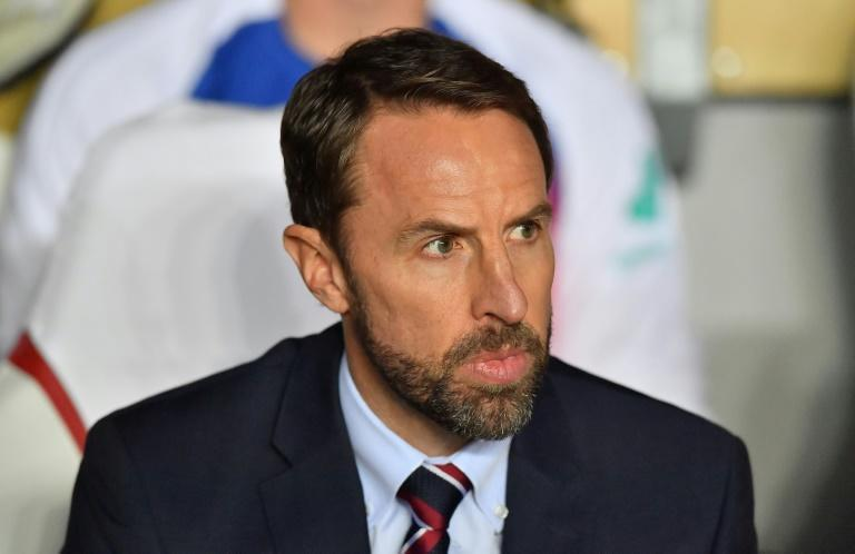 Plenty to ponder: England manager Gareth Southgate admitted his side need to improve defensively (AFP Photo/JOE KLAMAR)