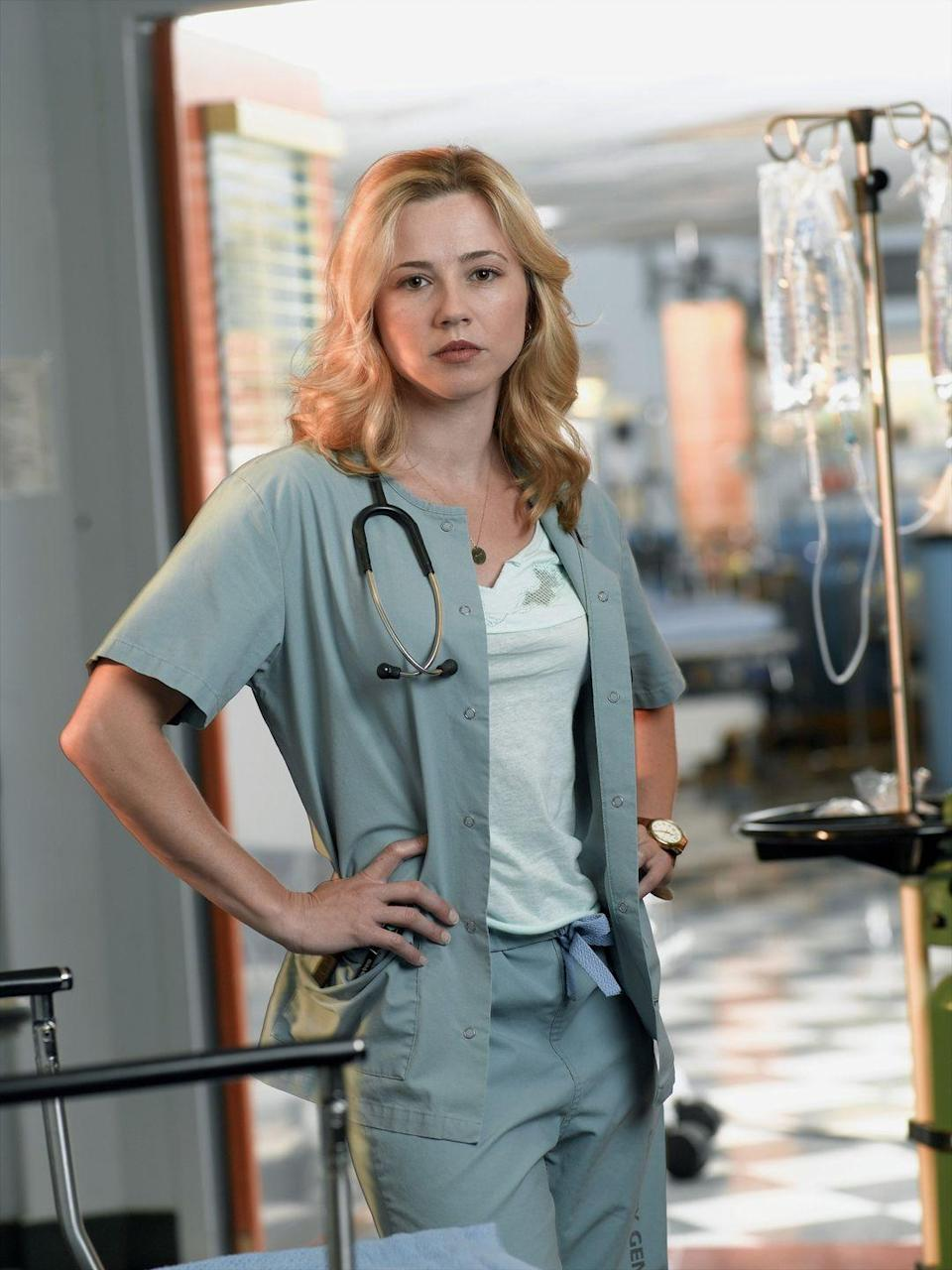 <p>Linda Cardellini first appeared on <em>ER </em>as Samantha Taggart in season 10 and joined the cast shortly after as a nurse. She remained on the show until the series finale in 2009 and has gone on to have a successful career in TV and film, appearing in the 2018 Oscar-nominated movie <em>Green Book.</em></p>