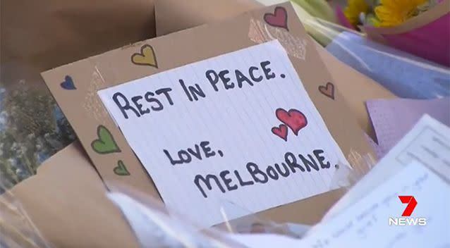 Tributes have been left in the city after five people were killed and another 37 injured. Photo: 7 News