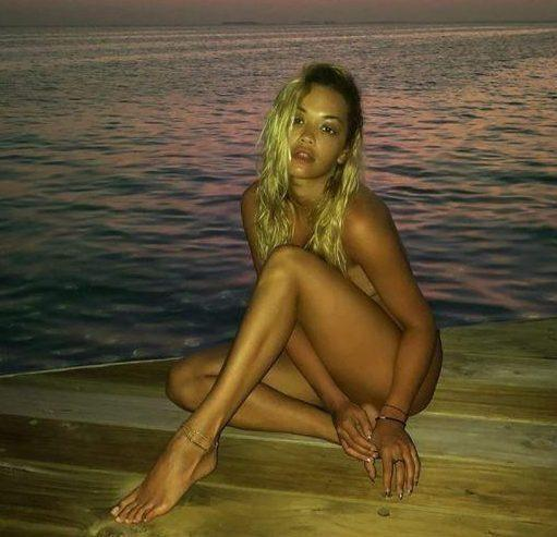 Whoah: The 27-year-old shocked fans in sme seriously raunchy nude snaps. Source: ritaora/instagram