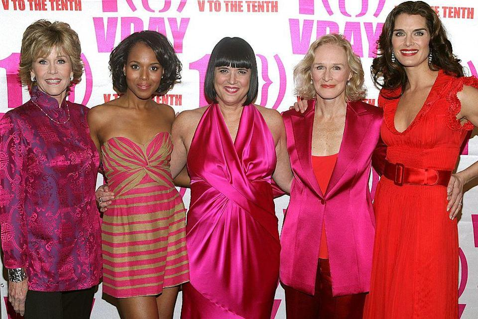 <p>So it turns out that Glenn Close and Brooke Shields are second cousins once removed. Shield's great grandmother was the sister of Close's grandfather.</p>