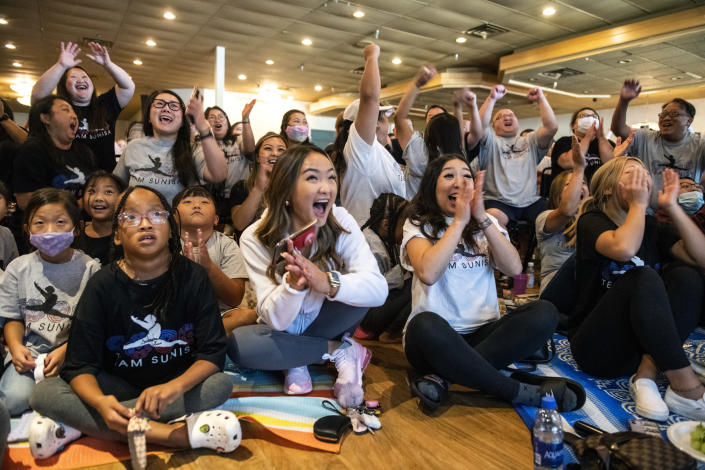 Image: United States Olympic Gymnastics Viewing Event With Members Of The Hmong Community And Family Of Sunisa Lee (Stephen Maturen / Getty Images)