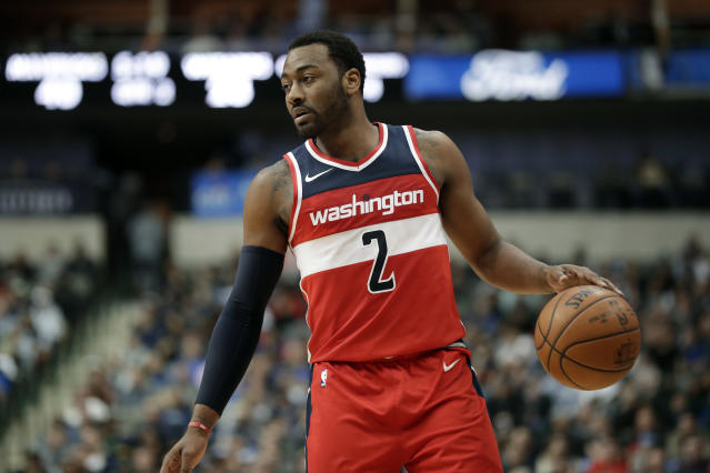 It's another disappointing season for John Wall and the Wizards. (AP)