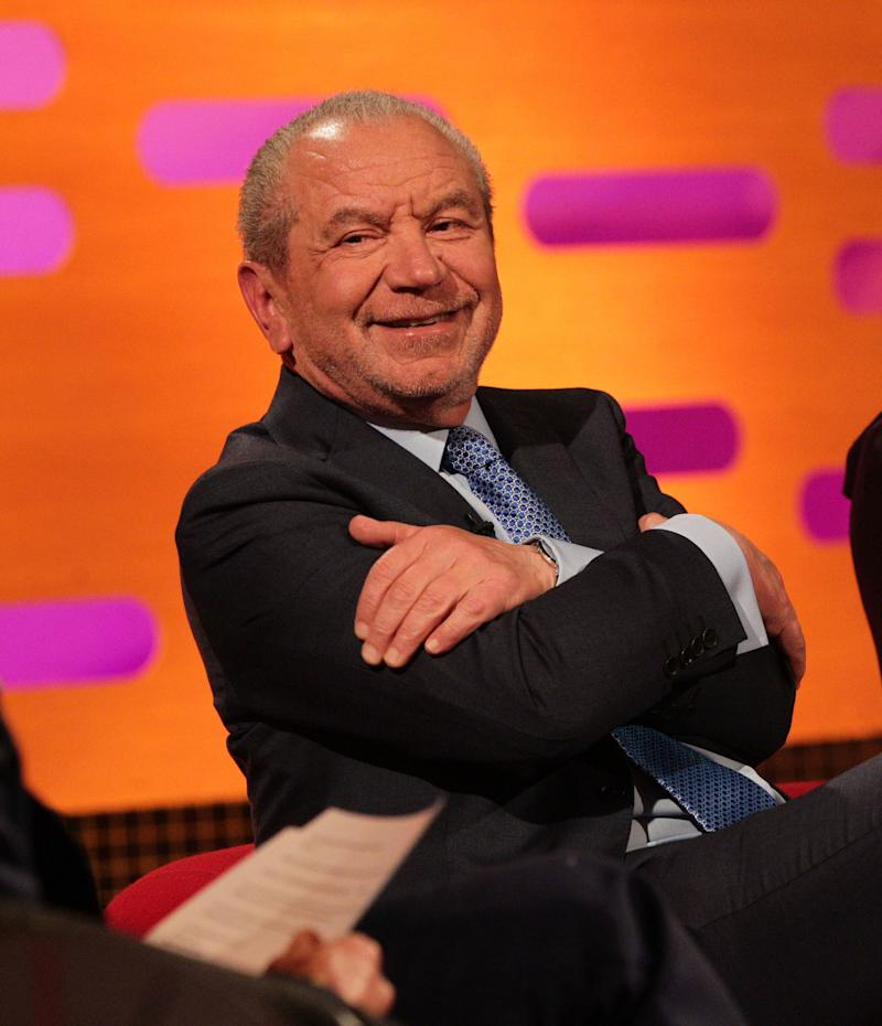 Guest Lord Alan Sugar during filming of The Graham Norton Show (Photo: PA Archive/PA Images)