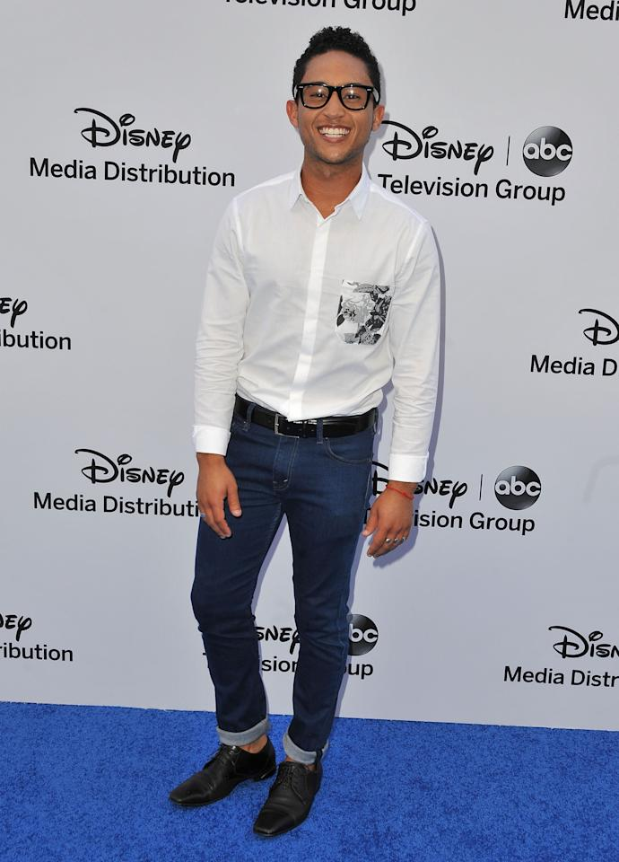 BURBANK, CA - MAY 19:  Actor Tahj Mowry arrives at the Disney Media Networks International Upfronts at Walt Disney Studios on May 19, 2013 in Burbank, California.  (Photo by Angela Weiss/Getty Images)