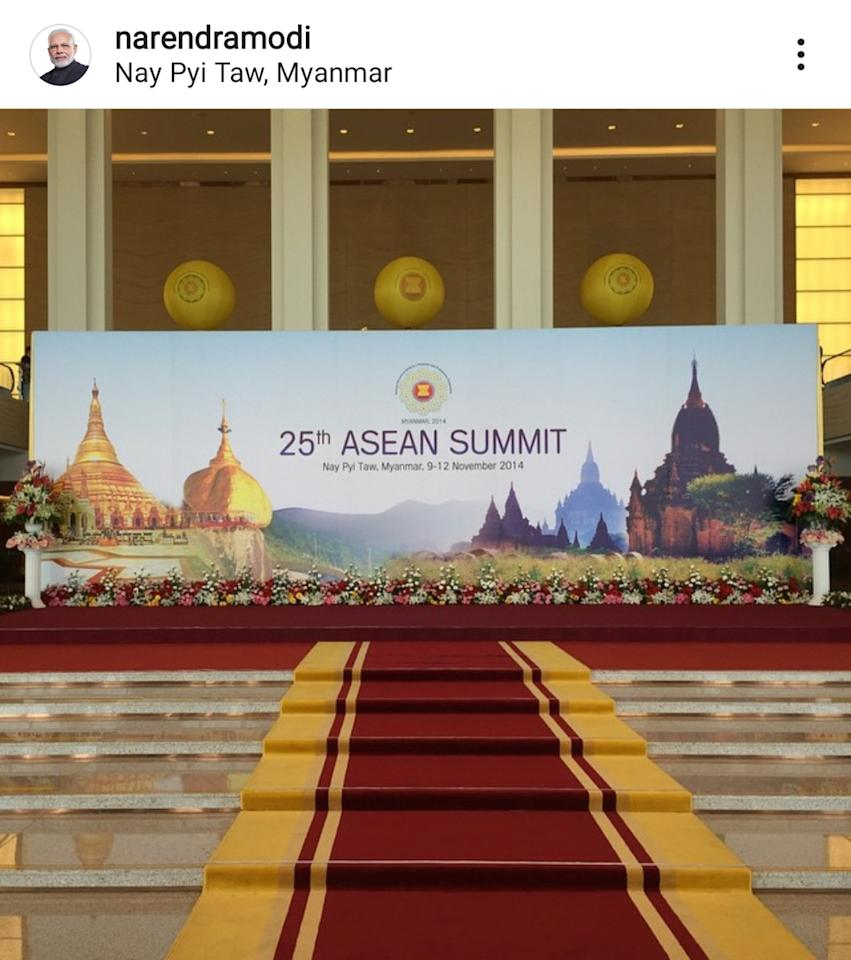 PM Modi can take on any popular celeb when it comes to social media popularity. One of the most followed leaders in the world commenced his Instagram journey with this image from the 25th Asean Summit.