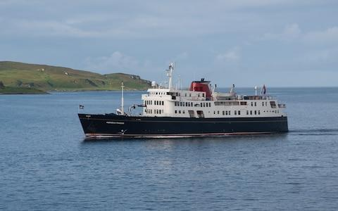 Hebridean Princess at sea