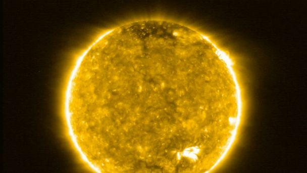 PHOTO: This image, provided by the European Space Agency (ESA), July 16, 2020, shows the Sun, taken by the ESA's Solar Orbiter spacecraft. (Solar Orbiter/EUI Team/ESA NASA via AP)