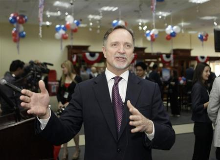 U.S. Ambassador to Iraq Robert Stephen Beecroft speaks during a news conference in Baghdad