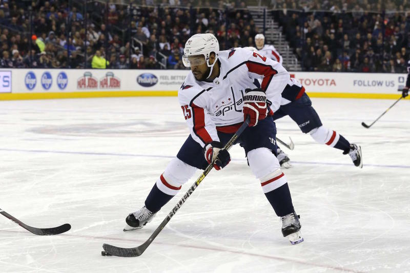 Devante Smith-Pelly is among four wingers invited to the Calgary Flames training camp on a professional tryout. (Russell LaBounty-USA TODAY Sports)