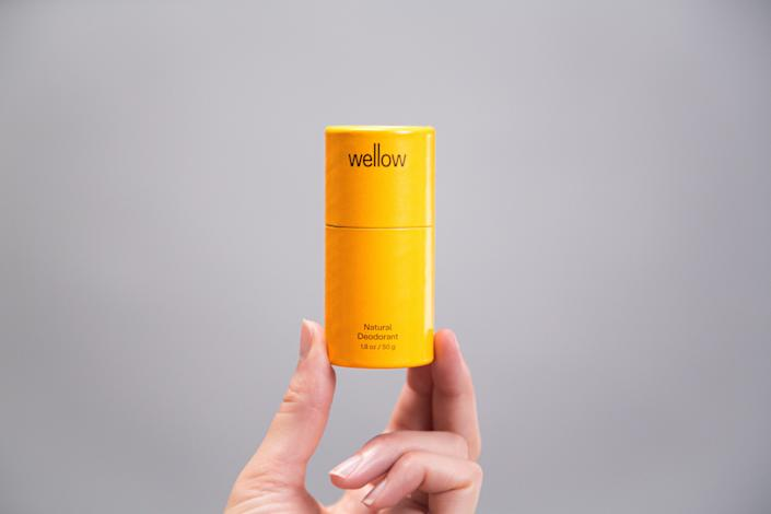 """Wellow is proof that sustainable living doesn't have to be expensive or hard work, thanks to their creation of a line of cruelty-free deodorants, body washes, and more made from renewable ingredients, all in biodegradable packaging. All their products are made in the U.S., and their deodorants come in three scents: coconut & vanilla, bergamot & citrus, and activated charcoal, while the shampoos and conditioners are available for either moisturizing or volumizing needs. $12, Wellow. <a href=""""https://bewellow.com/products/deodorant"""" rel=""""nofollow noopener"""" target=""""_blank"""" data-ylk=""""slk:Get it now!"""" class=""""link rapid-noclick-resp"""">Get it now!</a>"""