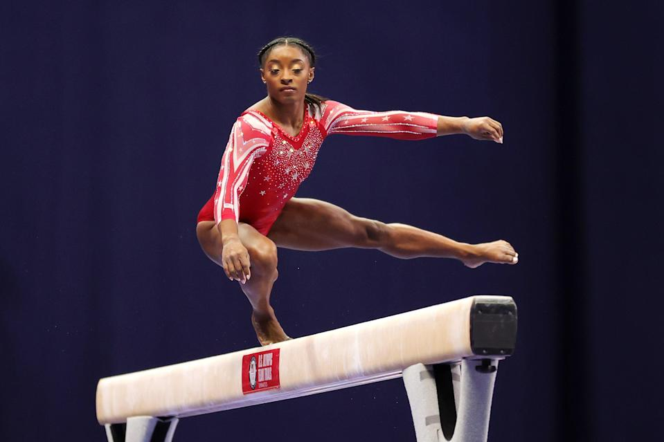 Simone Biles recalls being hungry as a child before being placed in foster care (Getty Images)
