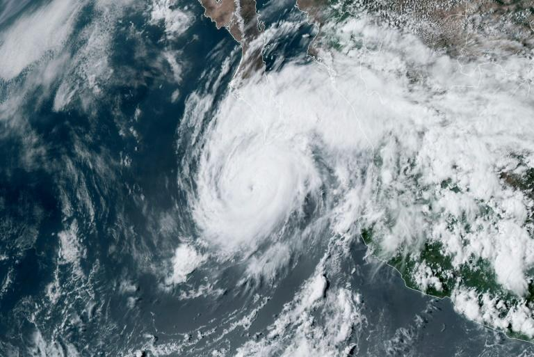 Hurricane Genevieve moves towards the tip of Baja California on August 19, 2020