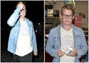 """<p><strong>When: July 23, July 24, 2017</strong><br>Macaulay Culkin was spotted out and about with 29-year-old actress (and rumoured girlfriend) Brenda Song at Craig's in Los Angeles on Sunday evening, and although the 36-year-old appeared a bit shy in front of the cameras, he looked a good 10 years younger with his new haircut.<br> The """"Home Alone"""" star has keep his natural blonde locks long and unruly throughout the years, so the fresh cut allowed cameras to get the first good look at Culkin's face in a long time. <em>(Photos: Splash News)</em> </p>"""
