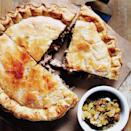 """Blizzard food at its best. This buttery crusted pie, filled with rib-sticking pork, will fortify you for any winter's night. <a href=""""https://www.epicurious.com/recipes/food/views/tourtiere-du-shack-380649?mbid=synd_yahoo_rss"""" rel=""""nofollow noopener"""" target=""""_blank"""" data-ylk=""""slk:See recipe."""" class=""""link rapid-noclick-resp"""">See recipe.</a>"""