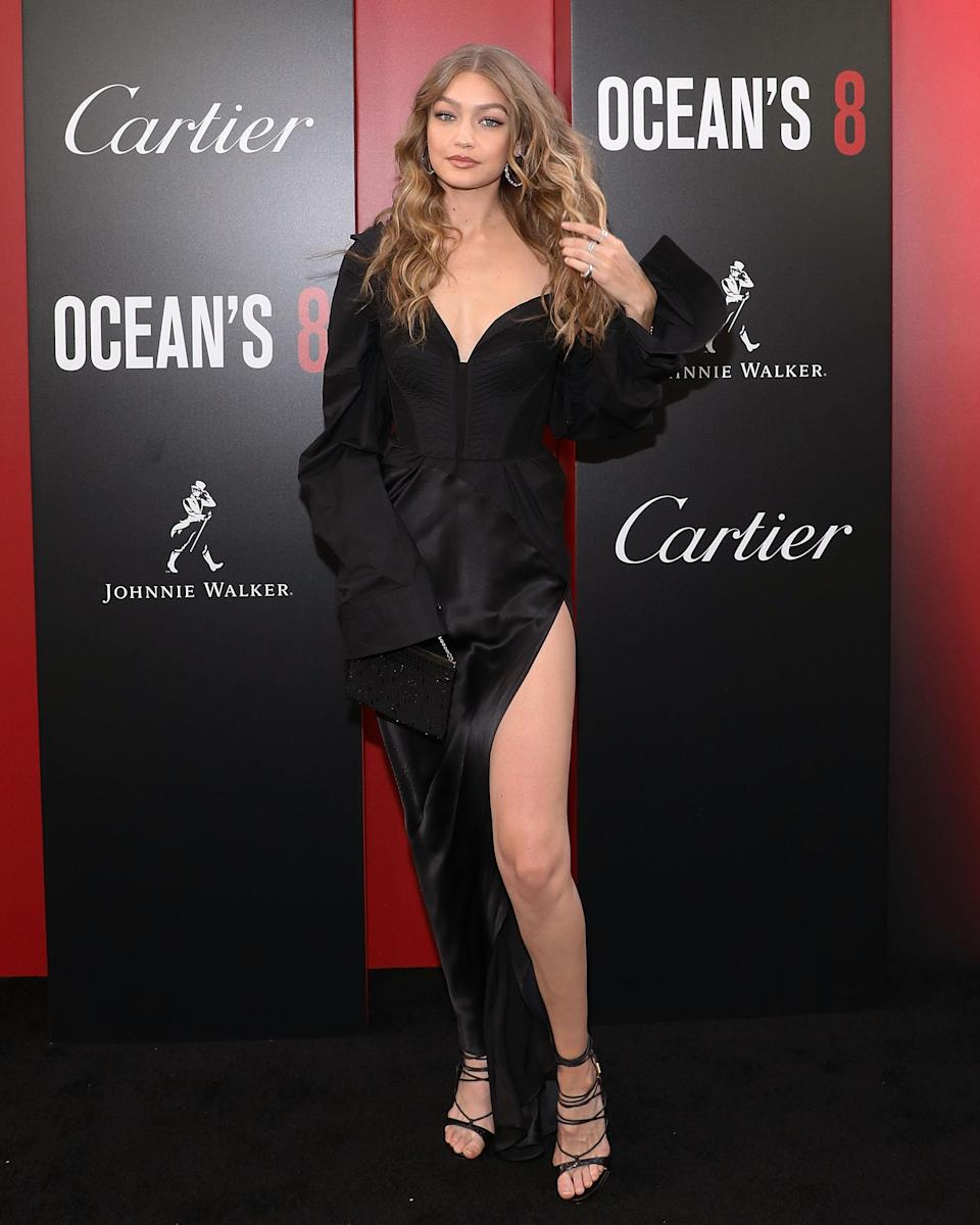 <p>Supermodel Gigi Hadid always features in our best dressed lists, as the super never fails to hit all the right style notes. But her 'Ocean's 8' premiere ensemble left the Internet baffled with it's super sleeves and thigh-high split. The ensemble was courtesy of Vera Wang and the model finished the look with DSquared2 shoes and Lorraine Schwartz jewels. <em>[Photo: Getty]</em> </p>