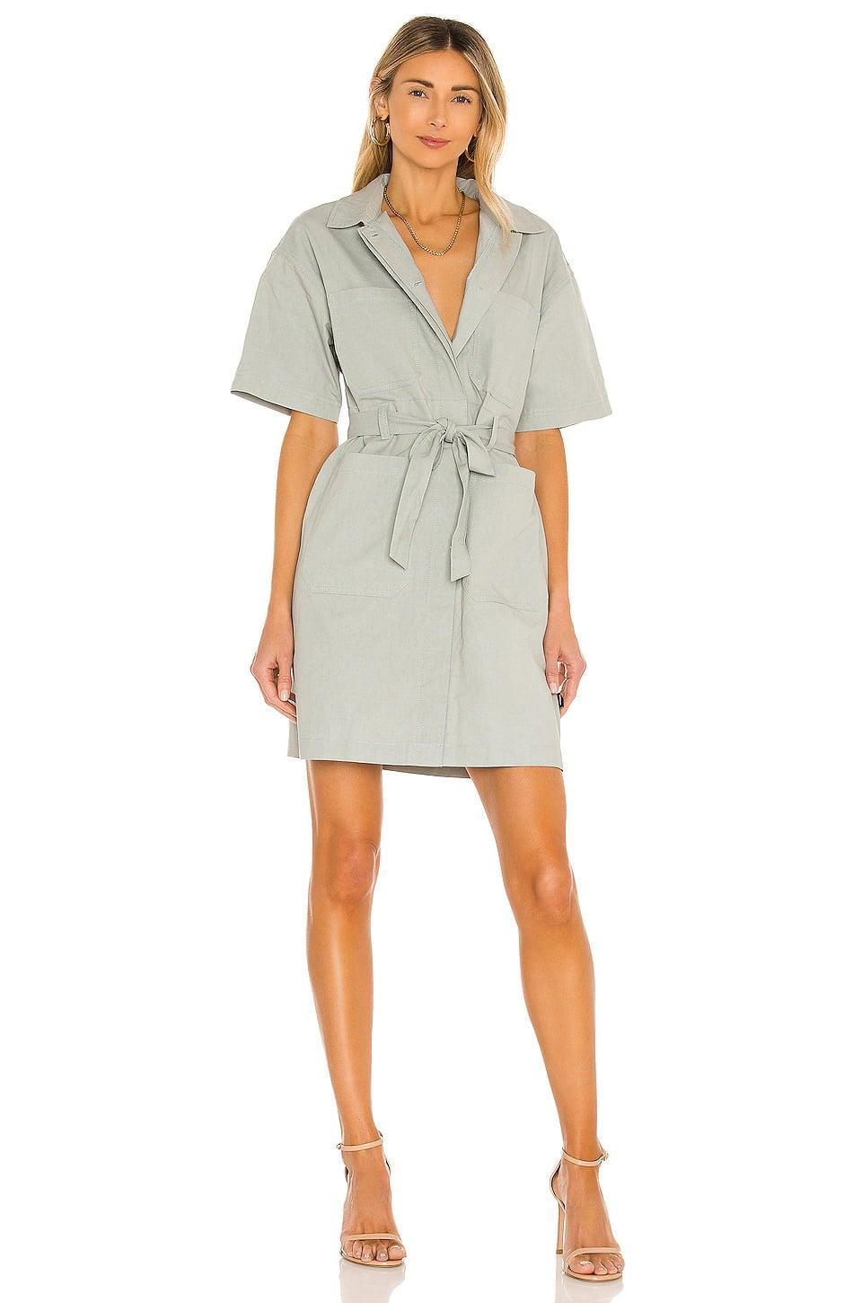 <p>Get all tied up in this <span>Dr. Denim Mez Dress</span> ($100).</p>