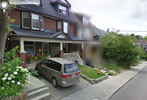 Image of house blurred out