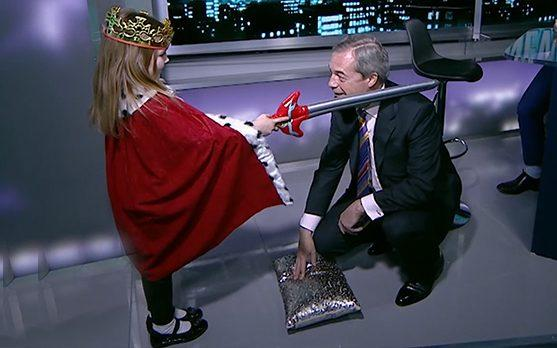 Nigel Farage receives 'honorary 'knighthood' - Credit: RT UK