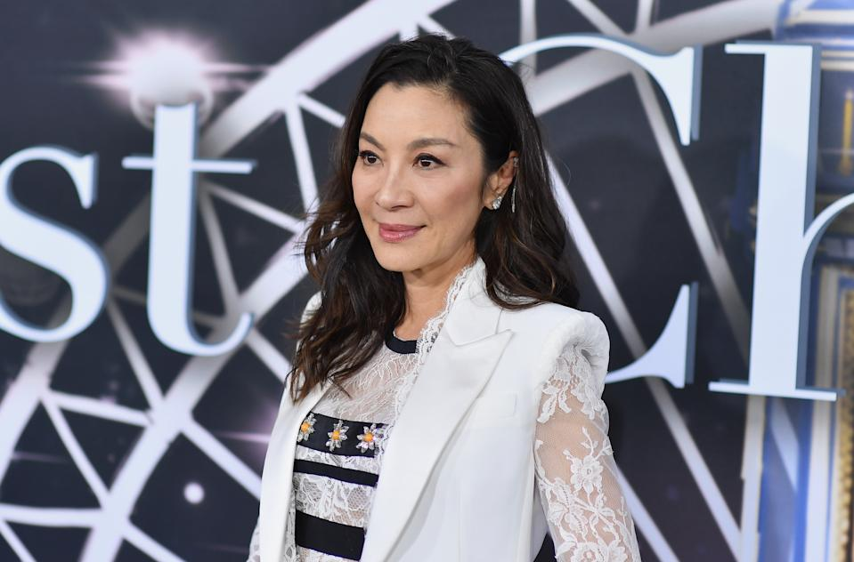 """Malaysian actress Michelle Yeoh attends the premiere of Universal Pictures' """"Last Christmas"""" at AMC Lincoln Square on October 29, 2019 in New York City. (Photo by Angela Weiss / AFP) (Photo by ANGELA WEISS/AFP via Getty Images)"""