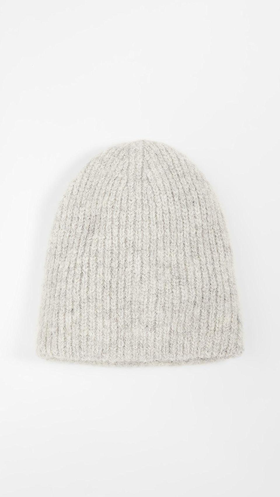 <p>Keep them cozy in this <span>Madewell Simple Beanie</span> ($38).</p>