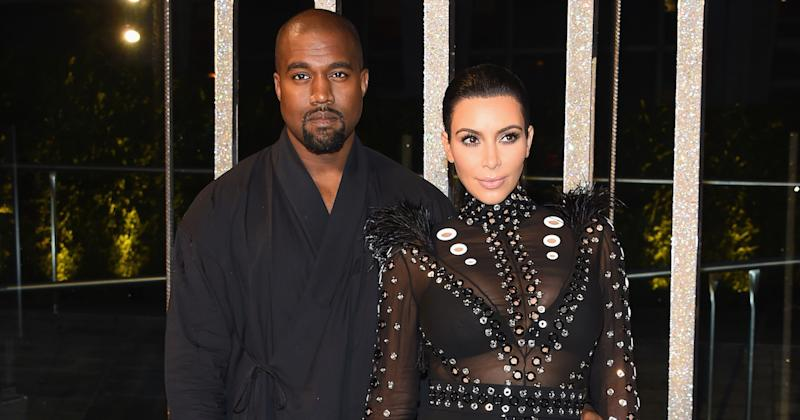 In sickness and in health: Kim Kardashian has been by her husband Kanye West's side (Copyright: Getty/Larry Busacca)